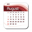 2011 Calendar. August. — Stockvectorbeeld