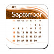 Stock Vector: 2011 Calendar. September.