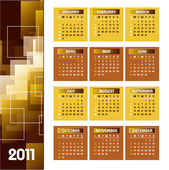 2011 Calendar. Vector Illustration. — Stock Vector