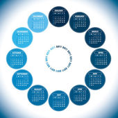 2011 Calendar. Vector Illustration. — Stock Vector