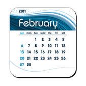 2011 Calendar. February. — Stock Vector
