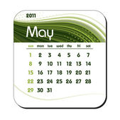 2011 Calendar. May. — Stock Vector