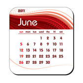 2011 Calendar. June. — Stock Vector