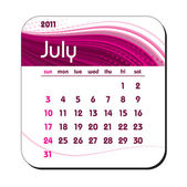 2011 Calendar. July. — Stock Vector