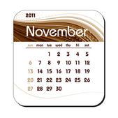 2011 Calendar. November. — Stock Vector