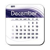 2011 Calendar. December. — Stock Vector