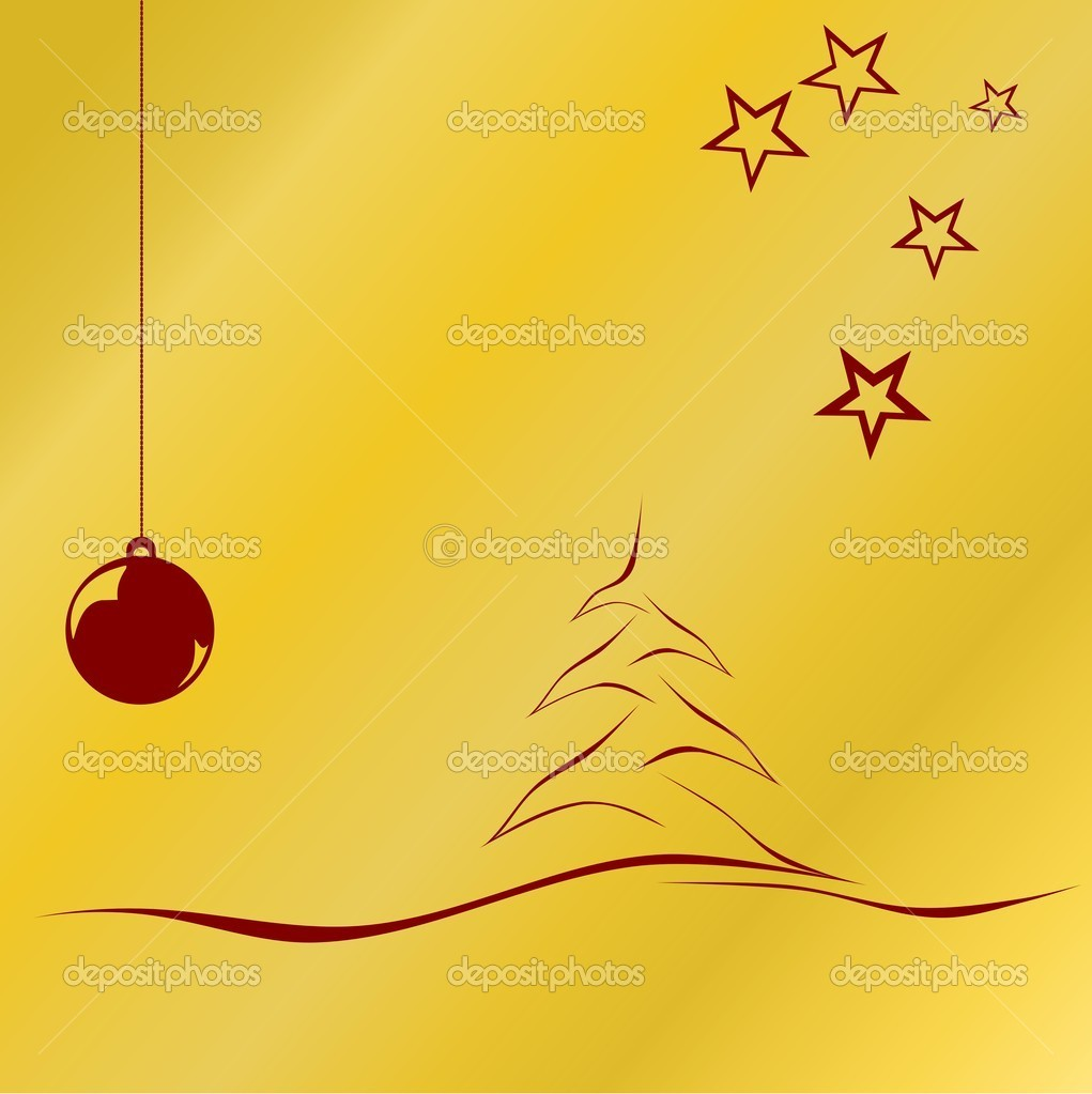 Golden Christmas background  Stock Vector #4310881