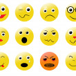 Smileys different emotions - Image vectorielle