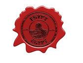 Egypt wax seal — Stock Vector