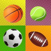 Sport balls background — Stock Photo