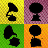 Old gramophone background — Stock Vector