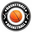 Royalty-Free Stock Photo: Basketball label