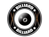 Billiard label — Stock Vector