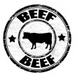 Beef stamp — Stock Vector