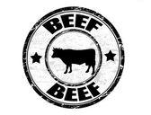Beef stamp — Stock Vector