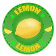 Royalty-Free Stock Vector Image: Lemon label