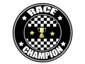 Race Champion label — Vetorial Stock