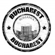 Bucharest stamp - Stockvectorbeeld