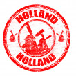 Holland stamp — Stock Vector