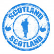 Scotland stamp — Stockvectorbeeld