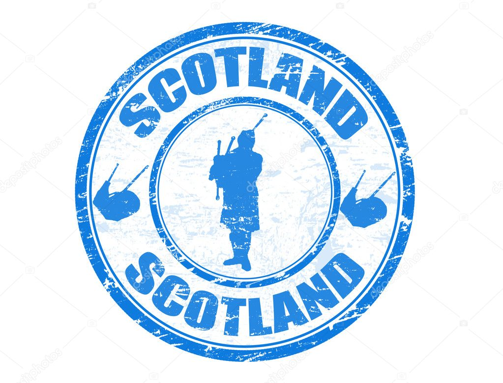 Scotland Different Shaped Rubber Stamp Vector Illustration Royalty ...