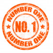 Stock Vector: Number one stamp