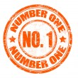 Royalty-Free Stock Vector Image: Number one stamp