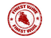 Finest wine stamp — Stock Vector