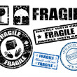Fragile signs and stamps - Stock Vector