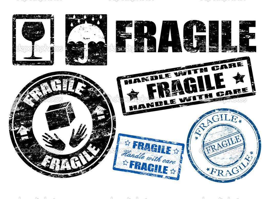 Fragile signs and stamps — Stock Vector © roxanabalint ...