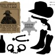 Elements for cowboy life — Stock Vector