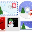 Set of Christmas elements — Stock Vector #4223141