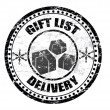 Gift list delivery stamp - Stock Vector