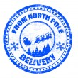 North Pole delivery stamp — 图库矢量图片