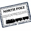 North Ploe Express stamp - Stock Vector