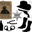 Elements for cowboy life - Stock Vector