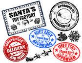 Jeu de timbres de noël — Vecteur