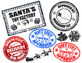 Natale francobolli insieme — Vettoriale Stock
