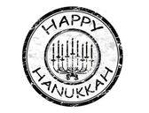 Happy Hanukka stamp — Stock Vector