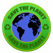 Save the Planet label - Stock Vector