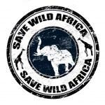 Save Wild Africa stamp — Stock Vector #4266790