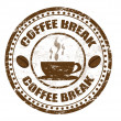 Stock Vector: Coffee break stamp