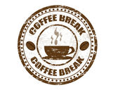 Coffee break stamp — Stock Vector