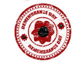 Remembrance day stamp — Stock Vector