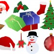 Christmas icon set — Stock Vector