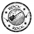 Rock stamp — Stock Vector