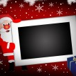 Santa and  blank photo frame background - Stock Vector