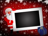 Santa and blank photo frame background — Stock Vector