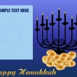 Happy Hanukkah/Chanukah Background — Stock Vector