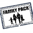 Family pack stamp — Stock Vector